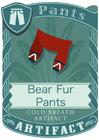Bear Fur Pants Red