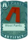Wool pants red