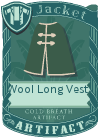 Wool Long Vest 3 Green