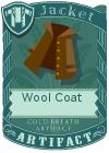 Wool coat collar brown