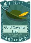 Gold Cavalier Hat Green