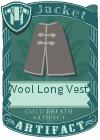 Wool Long Vest 3 Grey