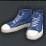 High-tops blue icon