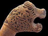 Oseberg viking animal heads 4838835094