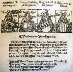Burggrafen des HRR by Peter Jordan of Mainz