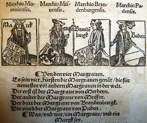 Markgrafen des HRR by Peter Jordan of Mainz