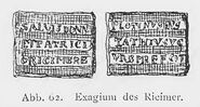 Exagium des Ricimer - RdgA Bd1, Abb.062