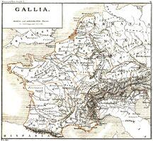 Gallia Karte Mommsen, 1927
