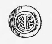 Langobardische Blechmünze von Perktarit, RdgA Bd1, Abb.049