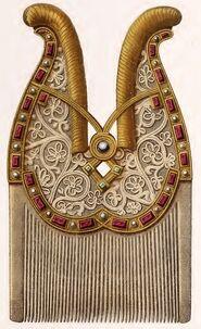 Bartkamm Heinrich I., 919-936, trachtenkunstwer01hefn p085, Taf.019