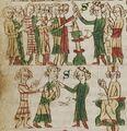 Cod. Pal. germ. 164, fol. 016v - Sachsenspiegel, Ldr. III 32, Nr. 3+4 - Leibeigene.jpg