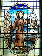 St Cuthbert At The Sea - Stained Glass
