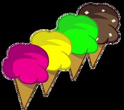 4 flavoured Ice cream