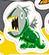 Piranharex as a sticker