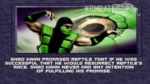 MK III Ending- REPTILE