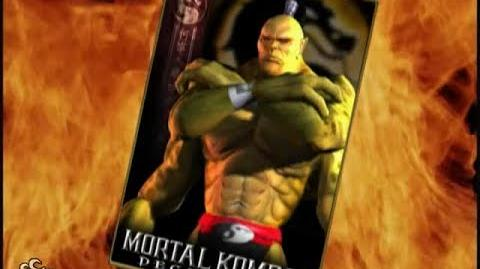 -HQ- Mortal Kombat- Deception - Goro Trading Card