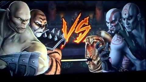 Mortal Kombat 2011 -Goro & Kintaro Gameplay -Tag Team Ladder MK9