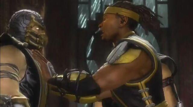 File:Cyrax pushes Scorpion.JPG