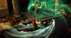 Liu Kang fighting his corpse