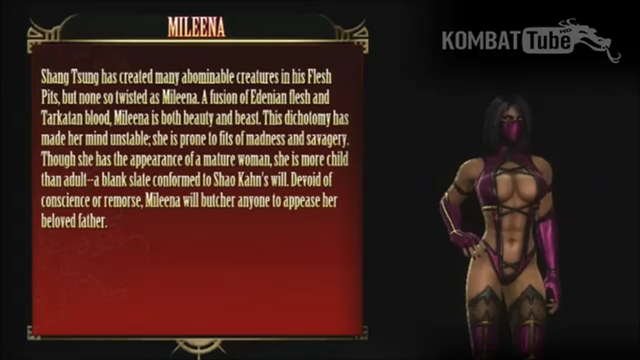 File:Mileena's Bio from Mortal Kombat 9.png