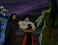 Asgarth, Kitana, Liu Kang and Sheeva