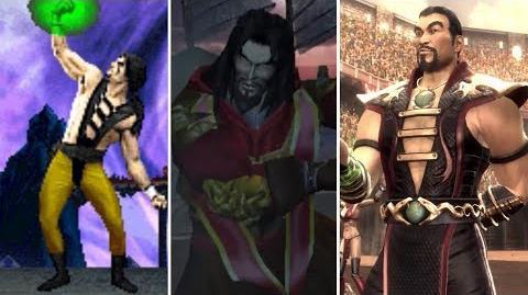 Shang Tsung All Victory Poses - MK1 to MK9