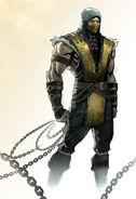 Scorpion MKX Comic art