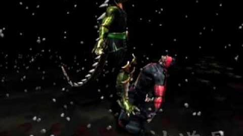 Mortal Kombat Deadly Alliance Reptile's Fatality