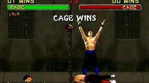 video mortal kombat ii fatality 1 johnny cage