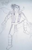 Fujin sketch