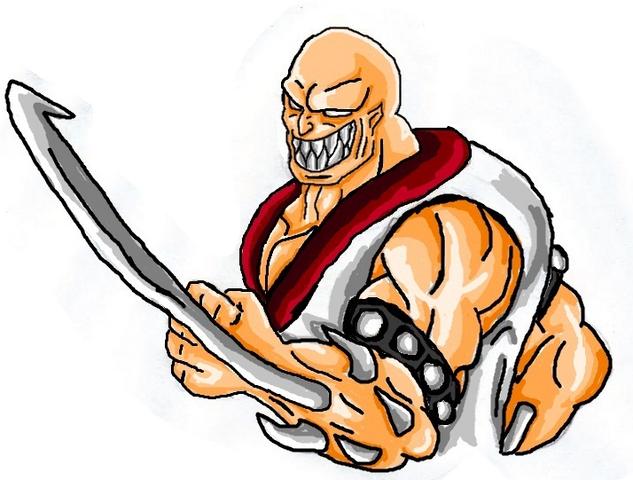 File:Mortal Kombat ll Arcade Art Baraka.png
