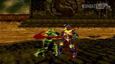 GBA MK TE Reptile Weapon Fatality