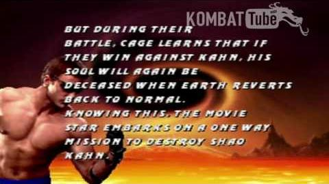 MK III Ending- JOHNNY CAGE