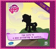 Sunset Shimmer clue 1