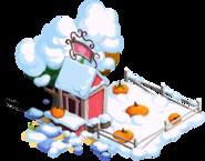 Pumpkin Stand Snow