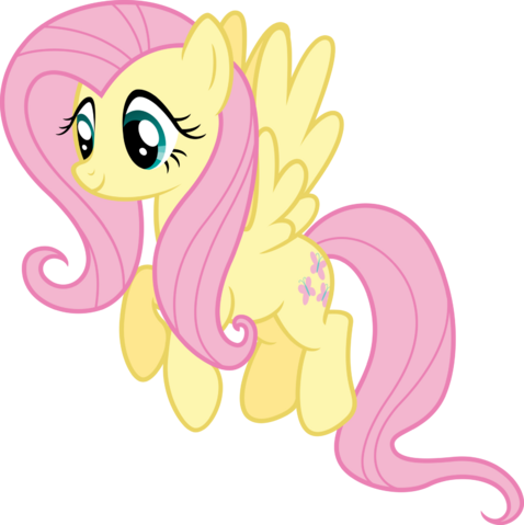 File:FANMADE Fluttershy Idle Vector.png