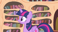 Twilight hears somepony knocking on the door S4E11