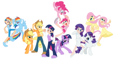 FANMADE Humanized ponies by Trinityinyang