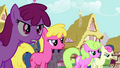 Angry crowd of ponies S3E03.png