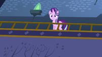 Starlight Glimmer approaches castle balcony S6E21