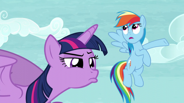 "File:Twilight observing Tank while Rainbow says ""Totally"" S5E5.png"