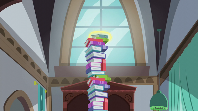 File:A book being levitated on top of a tower of books S5E26.png