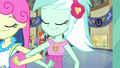 Lyra and Sweetie Drops interlock arms EG3.png