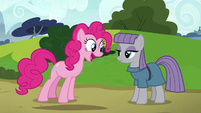 Pinkie thrilled that Maud wants a friend S7E4
