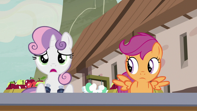 """File:Sweetie Belle """"who's that pony?"""" S7E8.png"""