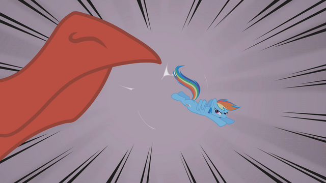 File:Rainbow Dash bucks dragon's snout S01E07.png