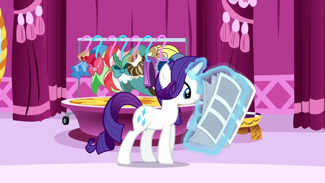 File:Rarity reading newspaper S6E9.png