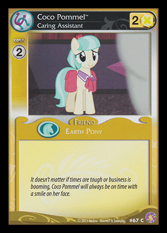 File:Coco Pommel, Caring Assistant card MLP CCG.jpg