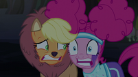 Pinkie Pie's teeth chatter uncontrollably S5E21