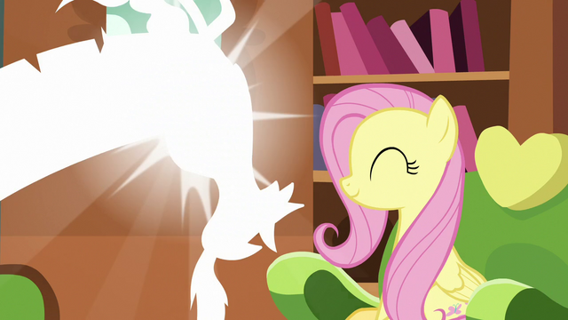 File:Discord poofing out of Fluttershy's house S7E12.png